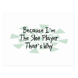 Cartão Postal Porque eu sou o jogador do entalhe
