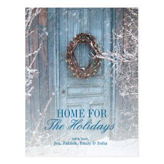 Cartão Postal Porta de celeiro do feriado do Natal