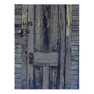 Cartão Postal Porta de madeira deteriorada da vertente