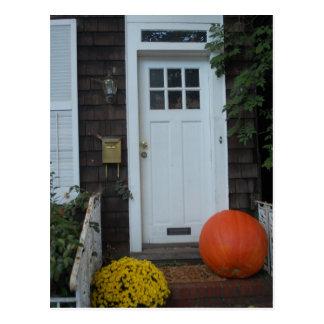 Cartão Postal Porta de Nova Inglaterra no outono