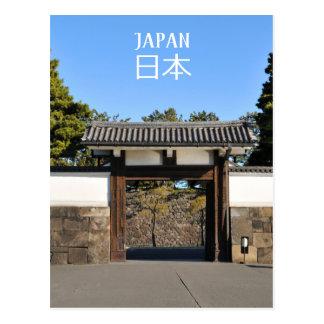 Cartão Postal Porta do templo em Tokyo, Japão