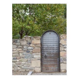 Cartão Postal Porta e parede do metal