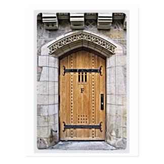 Cartão Postal Porta gótico F de Yale