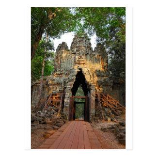 Cartão Postal Porta norte de Angkor Thom, Cambodia