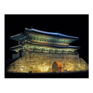 Cartão Postal Porta Seoul de Namdaemun