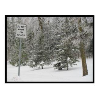 Cartão Postal Portage - humor da neve