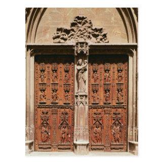 Cartão Postal Portal principal da catedral do Santo-Sauveur