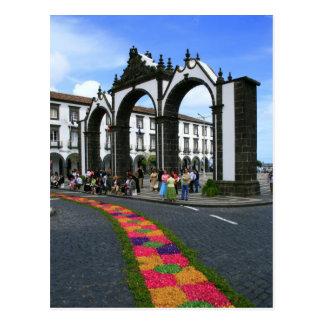 Cartão Postal Portas da cidade de Ponta Delgada