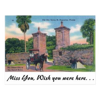 Cartão Postal Portas da cidade, St Augustine