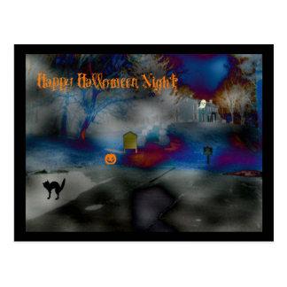 Cartão Postal Porte postal feliz da noite do Dia das Bruxas