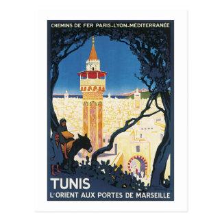 Cartão Postal Portes auxiliares de Marsielle de Tunes L'Orient