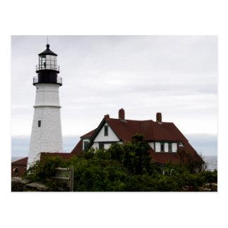 Cartão Postal Portland Lightouse claro principal Maine
