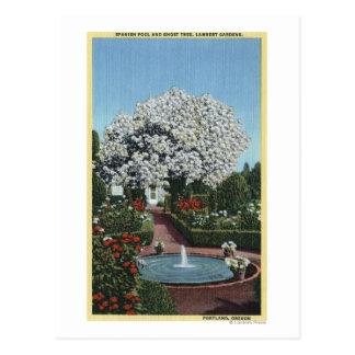 Cartão Postal Portland, Oregon - piscina do espanhol e árvore do