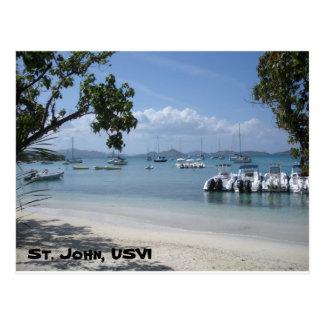 Cartão Postal Porto da ilha das Caraíbas com praia