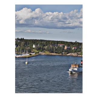 Cartão Postal Porto da suecia de Éstocolmo
