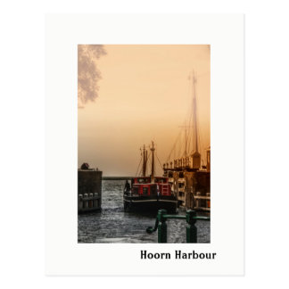 Cartão Postal Porto de Leavin' Hoorn, Países Baixos