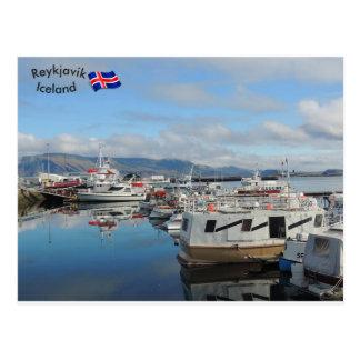 Cartão Postal Porto de Reykjavik, Islândia