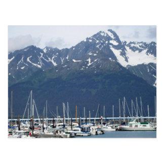 Cartão Postal Porto de Seward em Alaska