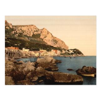 Cartão Postal Porto grande, ilha de Capri, Campania, Italia