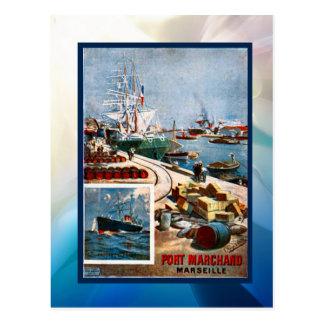 Cartão Postal Porto Marchand, Marselha