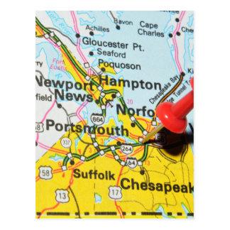 Cartão Postal Portsmouth, Virgínia