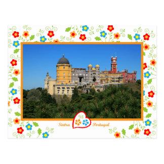 Cartão Postal Portugal nas fotos - palácio de Penha