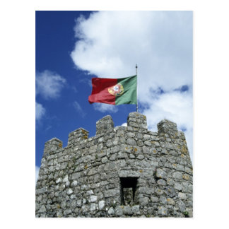 Cartão Postal Portugal, Sintra. Bandeira portuguesa na torre de