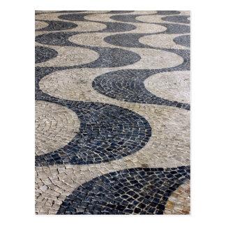 Cartão Postal Portuguese Calçada, Lisbon, Portugal