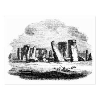 Cartão Postal Posctard da arte do vintage de Stonehenge