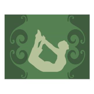 Cartão Postal Pose da ioga