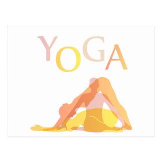 Cartão Postal Poses da ioga