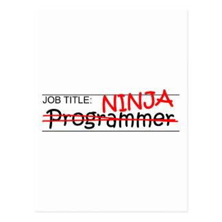 Cartão Postal Posição Ninja - programador
