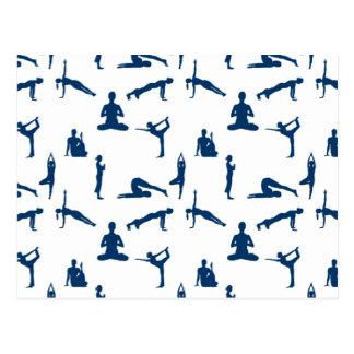 Cartão Postal Posições da ioga
