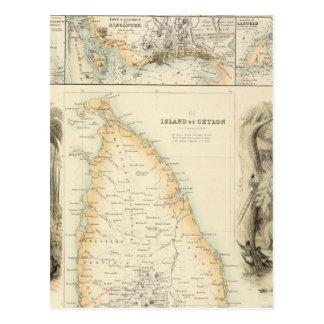 Cartão Postal Possessões britânicas nos mares indianos