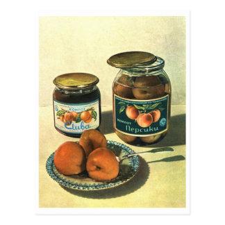 Cartão Postal Postacard soviético do poster de Bocal do pêssego