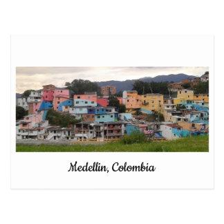 Cartão Postal Postado do EL Pesebre Medellin mural, Colômbia