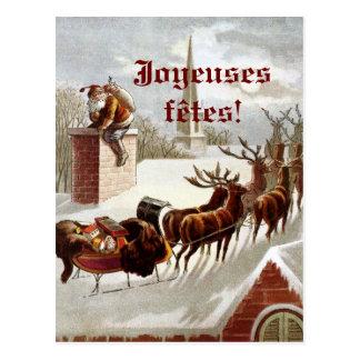 Cartão Postal Postales dos cartes do traîneau e do renne do avec