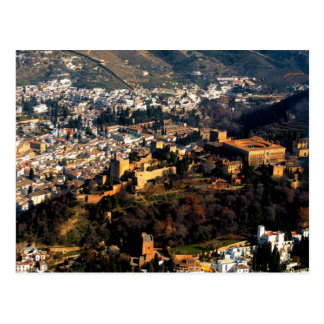 Cartão Postal Postcard Alhambra dentro Granada, Spain