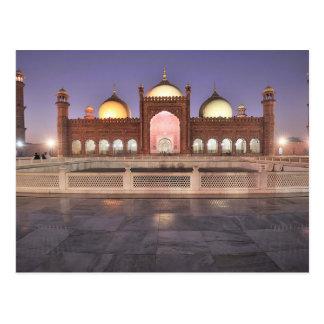 Cartão Postal Postcard Badshahi Mosque in Lahore, Pakistan