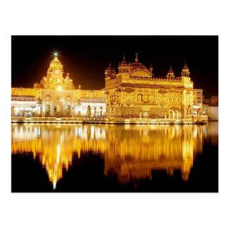 Cartão Postal Postcard Golden Temple India (night) Punjab, India