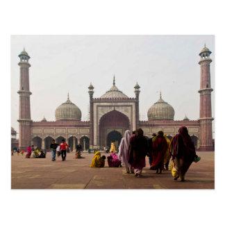 Cartão Postal Postcard Jami Masjid in New Delhi. India