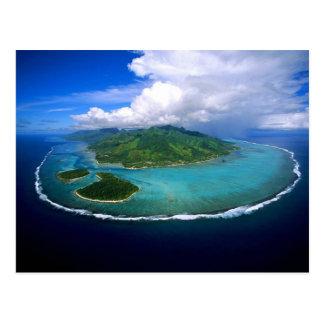 Cartão Postal Postcard Moorea Island Overview, French Polynesia
