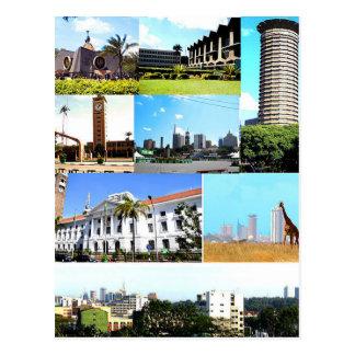 Cartão Postal Postcard Nairobi Montagem, QUÉNIA