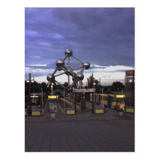 Cartão Postal Postcard The Atomium in Brussels, Belgium