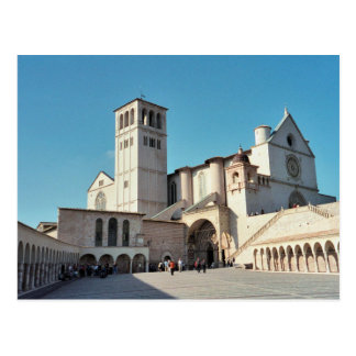 Cartão Postal Postcard The Basilica of Assisi, Umbria Italy