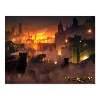 Cartão Postal Postcard Viagem to Fantasy - Oriental Felino
