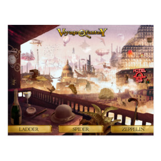 Cartão Postal Postcard Voyage to Fantasy - SteamPunk City