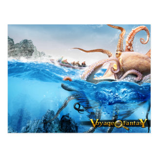 Cartão Postal Postcard Voyage to Fantasy - The Cracken