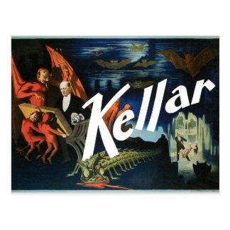 Cartão Postal Poster 1897 do mágico de Harry Kellar do vintage