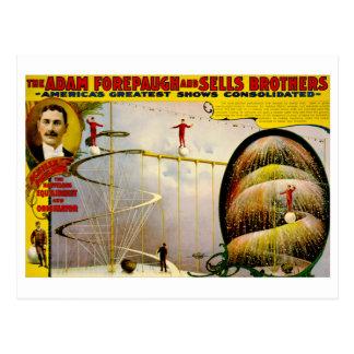 Cartão Postal Poster 1899 do vintage do desempenho do circo